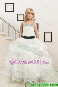 Fitting and Affordable Little Girl Pageant Dress with Beading and Ruffles