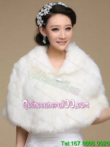 2015 Luxurious Faux Fur White Wraps
