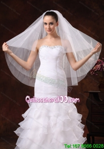 Three-tier Tulle Fingertip Wedding Veil
