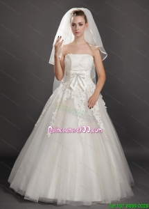 Four-tier Tulle Ribbon Edge Wedding Veil On Sale