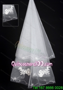 Organza Lace Applique Edge Bridal Wedding Veil