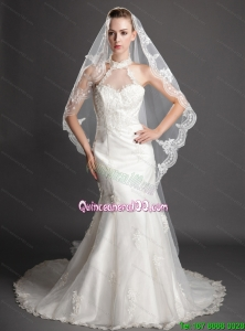 Royal Discount Tulle Bridal Veil With Lace