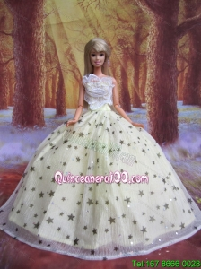 Elegant Handmade Gown With Sequins Made to Fit the Barbie Doll