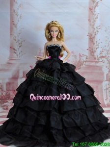Amazing Black Dress With Sequins Made To Fit The Barbie Doll