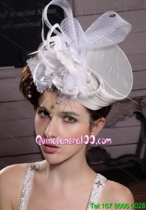 Fashionable Feather Ribbons Bridal Hat Headpiece