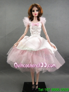 Pretty Handmade Pink Tulle Ball Gown Barbie Doll Dress