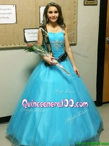 Discount Strapless Big Puffy Quinceanera Dress with Beading and Appliques