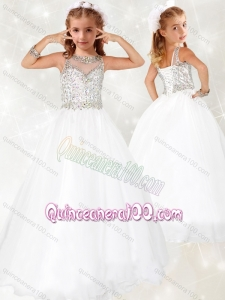 d90760b38b9  231.10  102.75  Lovely Beaded White Mini Quinceanera Dress with See  Through Scoop