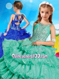 Wonderful Beaded and Ruffled Layers Mini Quinceanera Dress with Criss Cross