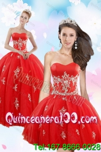 Perfect Red 16 Birthaday Party Dresses with Appliques for 2015