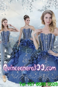 Wonderful Blue 16 Birthaday Party Dresseswith Embroidery and Beading for 2015