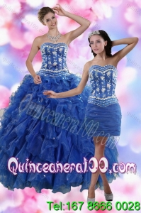 2015 Fashionable Strapless 16 Birthaday Party Dresses in Royal Blue