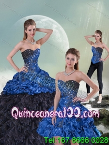 2015 New Style Beading and Pick-ups Sweet 15 Dress in Multi-color