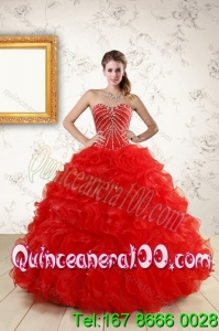 2015 Most Popular New Style Quince Dresses With Beading and Ruffles
