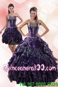 New Arrival Sweetheart Ruffled 2015 Quinceanera Dresses with Embroidery
