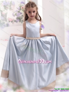 Silver Scoop 2015 Comfortable Kid Pageant Dress with Waistband