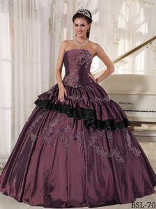 Beaded Strapless Ball Gown Dress for Quinces with Floor-length