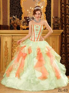 Sweetheart Floor-length Beading Embroidery Quinceanera Dress