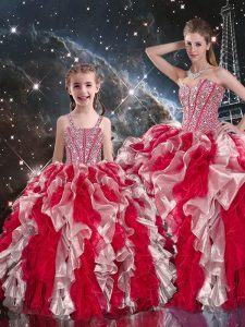 Floor Length Ball Gowns Sleeveless Multi-color Quinceanera Dress Lace Up