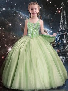 Floor Length Ball Gowns Sleeveless Pageant Dress Toddler Lace Up
