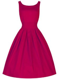 Gorgeous Fuchsia Sleeveless Taffeta Lace Up Dama Dress for Quinceanera for Prom and Party and Wedding Party