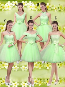 Edgy Lace Up Sweetheart Lace and Belt Quinceanera Court Dresses Tulle Sleeveless