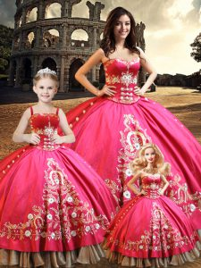 Ideal Taffeta Sleeveless Floor Length Quinceanera Gowns and Beading and Embroidery