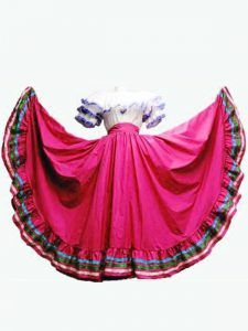 Hot Pink Ball Gowns Off The Shoulder Short Sleeves Taffeta Floor Length Lace Up Ruffled Layers 15 Quinceanera Dress