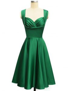 Beautiful Green Sleeveless Taffeta Lace Up Quinceanera Court Dresses for Prom and Party and Wedding Party