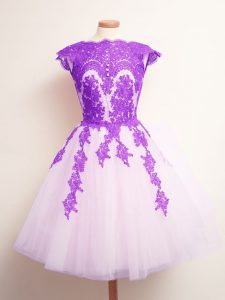 Deluxe Appliques Quinceanera Court Dresses Multi-color Lace Up Sleeveless Mini Length