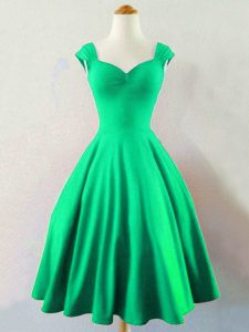 Dark Green Sleeveless Mini Length Ruching Lace Up Court Dresses for Sweet 16