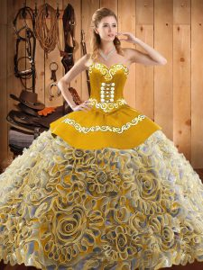 Best With Train Ball Gowns Sleeveless Multi-color Vestidos de Quinceanera Sweep Train Lace Up