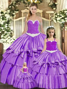 Eggplant Purple Sweet 16 Dresses Military Ball and Sweet 16 and Quinceanera with Ruching Sweetheart Sleeveless Lace Up