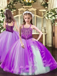 Most Popular Sleeveless Beading Lace Up Pageant Dress for Girls