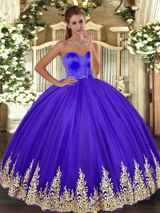 Excellent Floor Length Ball Gowns Sleeveless Lavender Ball Gown Prom Dress Lace Up