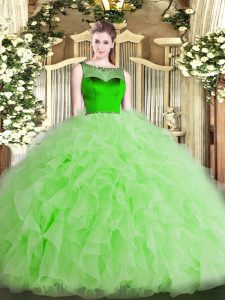 Floor Length Ball Gowns Sleeveless Sweet 16 Quinceanera Dress Zipper