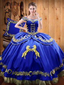 Fitting Sleeveless Lace Up Floor Length Beading and Embroidery Sweet 16 Quinceanera Dress