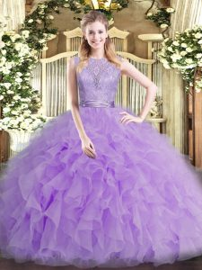 High End Sleeveless Beading and Ruffles Backless Quinceanera Dresses