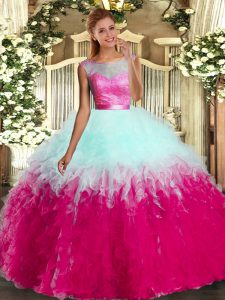 Trendy Multi-color Sleeveless Ruffles Floor Length Sweet 16 Quinceanera Dress