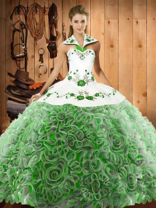 Inexpensive Ball Gowns Sleeveless Multi-color Vestidos de Quinceanera Sweep Train Lace Up