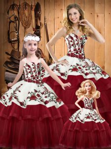 561162ad632  564.14  387.95  Hot Sale Sleeveless Brush Train Lace Up Embroidery and Ruffled  Layers 15 Quinceanera Dress
