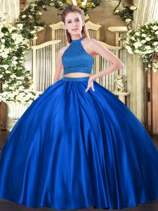 Exquisite Tulle Sleeveless Floor Length Quinceanera Dress and Beading