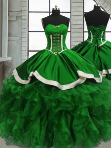 Sweetheart Lace Up Beading and Ruffles Vestidos de Quinceanera Sleeveless