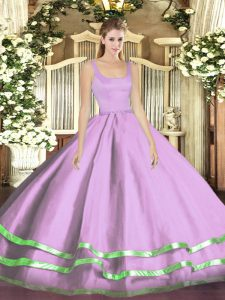Straps Sleeveless Tulle Quince Ball Gowns Ruffled Layers Zipper