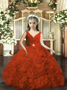 Best Sleeveless Beading and Ruching Backless Little Girls Pageant Dress Wholesale