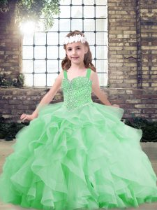 Sleeveless Tulle Lace Up Little Girl Pageant Dress for Party and Wedding Party