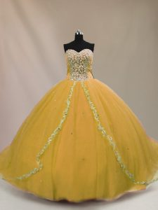 Inexpensive Lace Up Sweet 16 Dresses Brown for Sweet 16 and Quinceanera with Beading