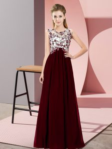 Dazzling Sleeveless Beading and Appliques Zipper Damas Dress
