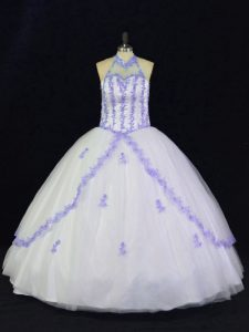 Dynamic Sleeveless Appliques Lace Up Sweet 16 Dress