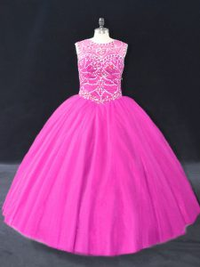 Best Selling Sleeveless Beading Lace Up Quinceanera Gown